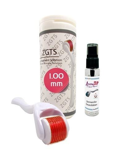 Zgts Dermaroller 1.00 mm Orijinal Titanyum 540 İğneli Derma Roller Saç Yüz Vücut Bakımı Renksiz